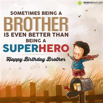 Happy Birthday Messages / SMS for Brother